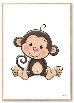 Abe Plakat til Børn | Køb den søde børneplakat: Abe plakaten