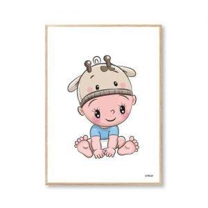 Børneplakater Baby Giraf