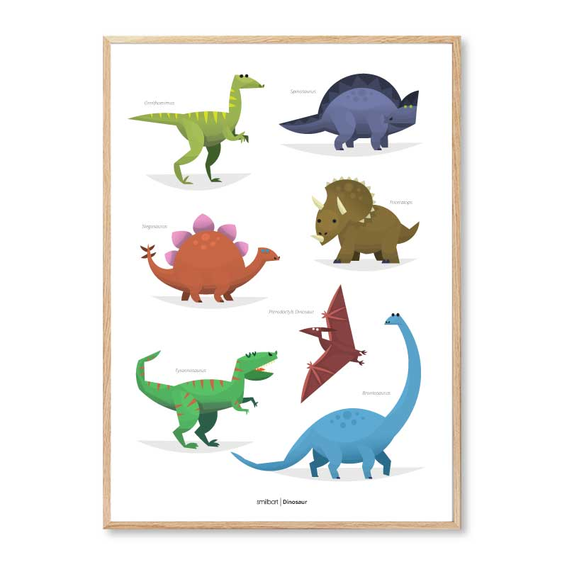 Børneplakater Dinosaur