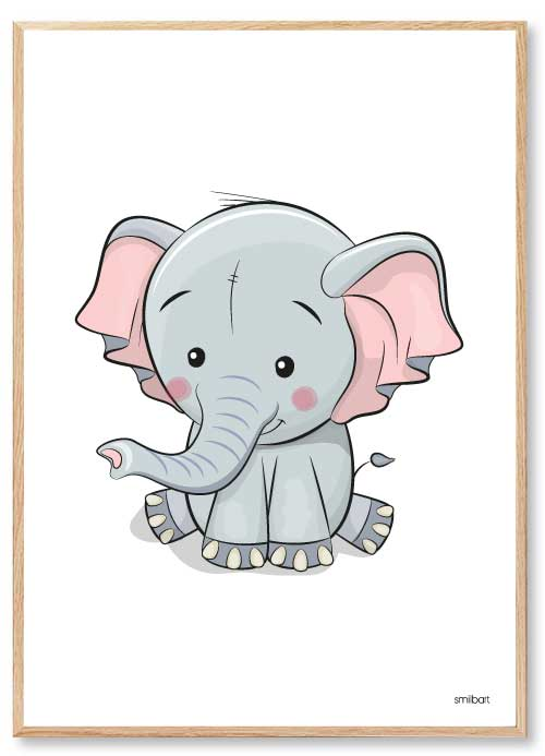 Elefant Børneplakater