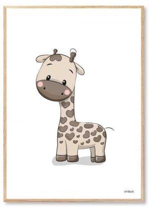 Giraf plakat | Køb den flotte Plakat Giraf og mange andre søde plakater