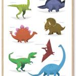 Dinosaur-Plakat