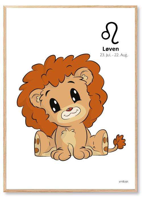 Stjernetegn Løven Plakat Børneværelse