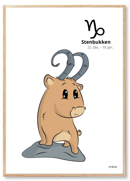 Stenbukken stjernetegn Stjernetegn Plakater Til Børn