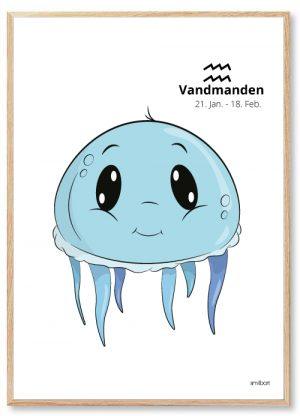 Vandmanden stjernetegn Stjernetegn Plakater Til Børn