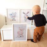 Børneplakater med dyr