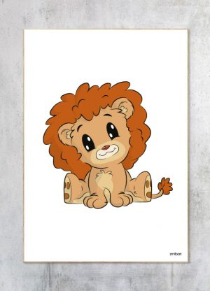 Børneplakat-Løven