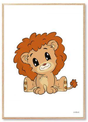 Løven Plakat Ramme