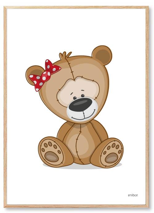 Plakat Børneværelse Bjørn