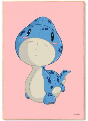 Dinosaur-Langhals-Plakat-Børn