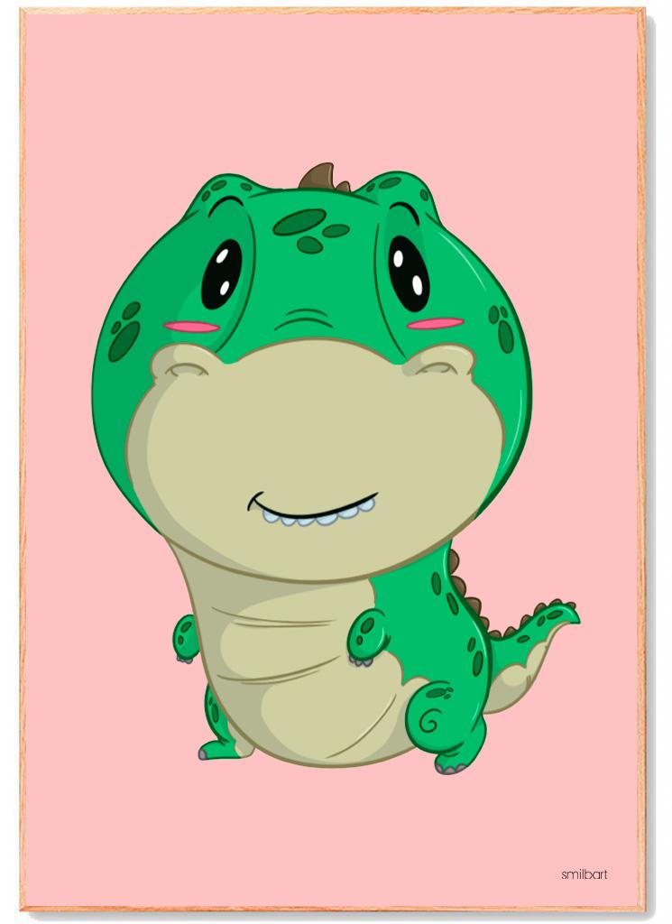 Dinosaur-T-Rex-Plakat-Børn