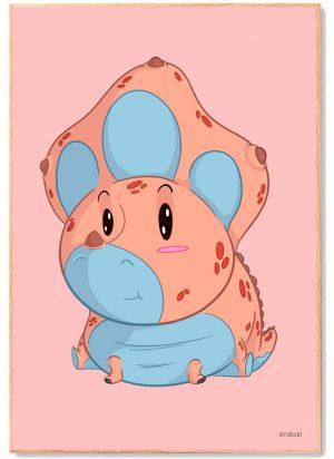 Dinosaur-Triceratops-Plakat-Børn