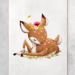 dyreplakat med bambi