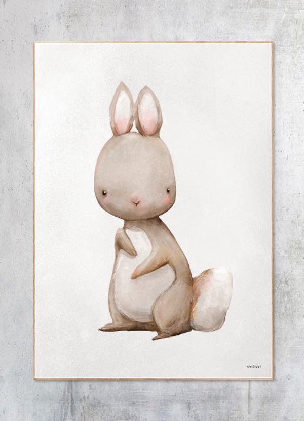 brun kanin børneplakat