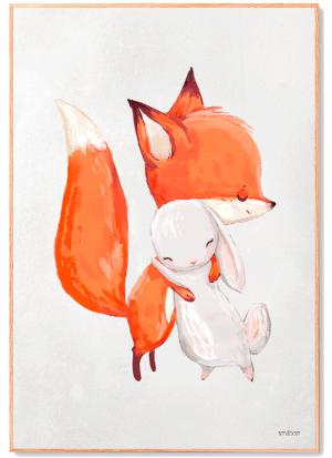 Ræv og kanin plakat