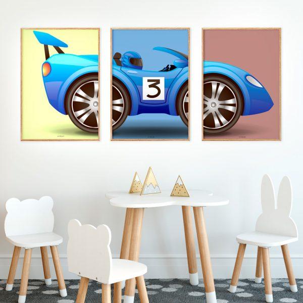 Racerbil-Plakat-Børn