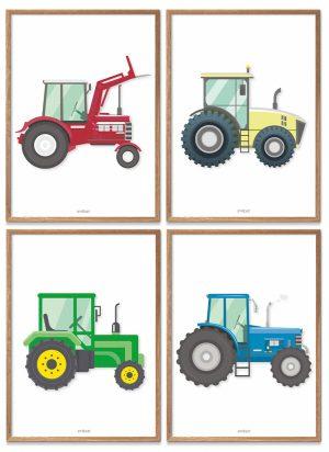 Traktor Plakater Børneværelse