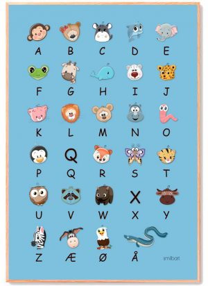 ABC-Plakat-blaa-Børn