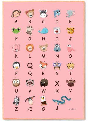 ABC-plakat-lyserød-A3