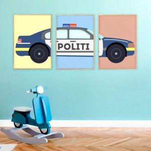 Politibil-Plakater