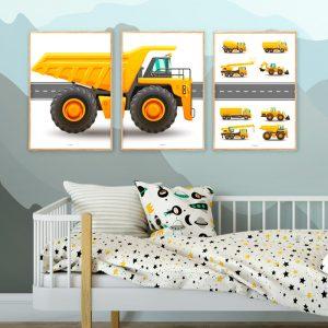 Bygningskøretøjer-Plakater
