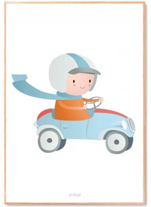 Bil Dreng Børneplakat