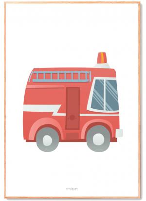 Brandbil-Plakat