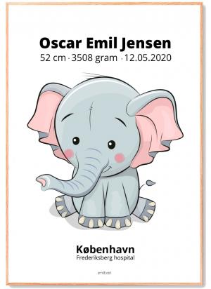 Fødselstavle-4-elefant
