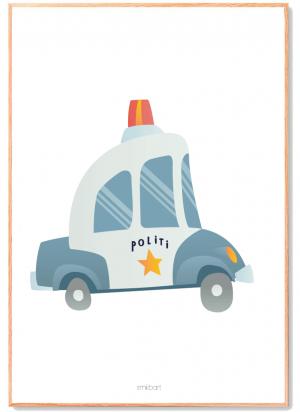 Politibil-baby børne plakat