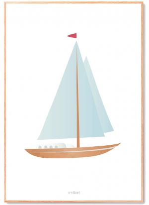 Sejlskib-Plakat Børn